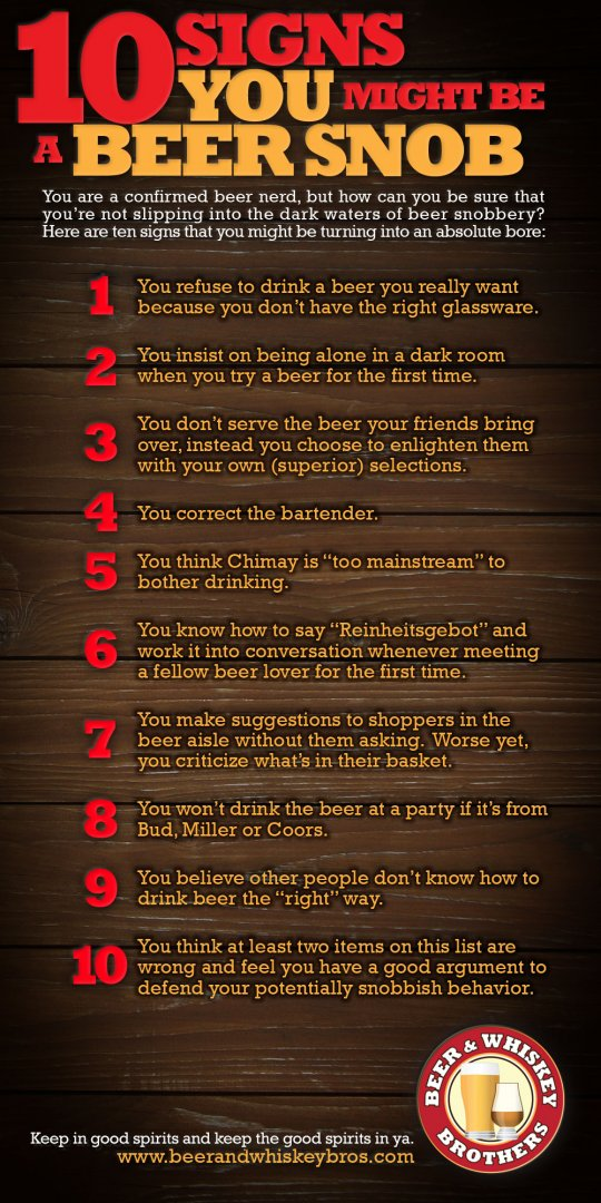 10 signs you are a beer snob