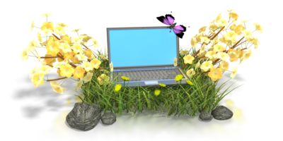 laptop in flowers pc 400 clr 1735