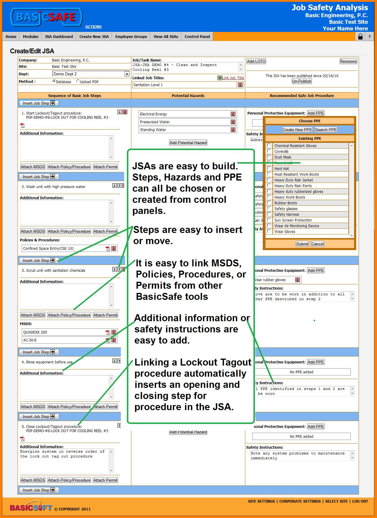 Job Safety Analysis Samples