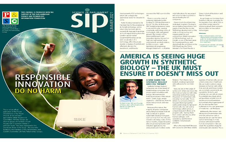 America is seeing huge growth in Synthetic Biology – the UK must ensure it doesn't miss out