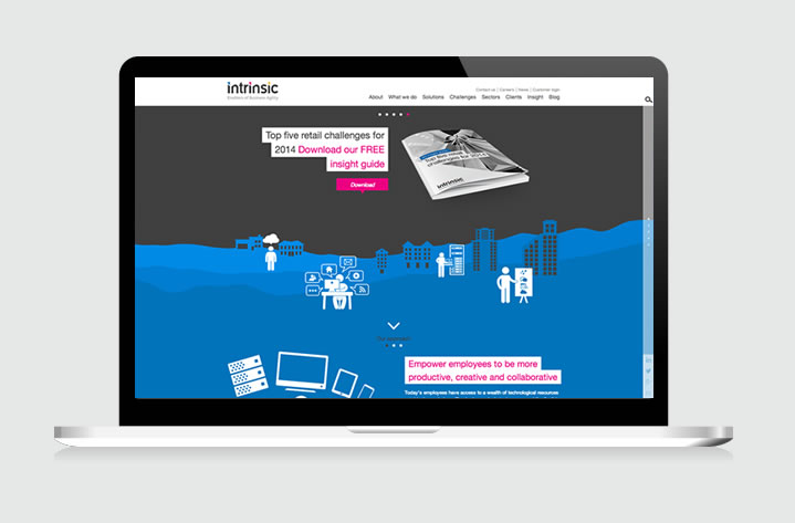 Our website for Intrinsic: Enablers of Business Agility