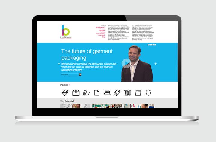 Our website for Britannia Garment Packaging