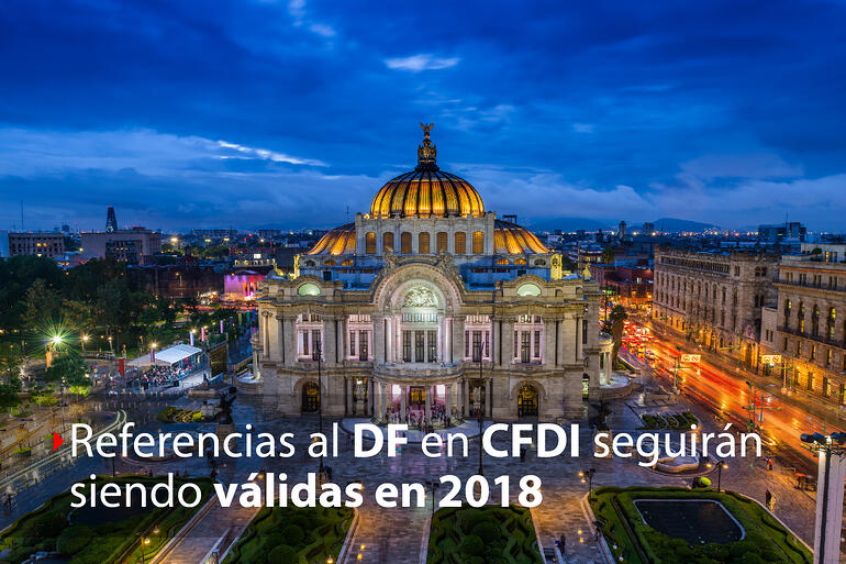Referencias al Distrito Federal válidas durante el 2018