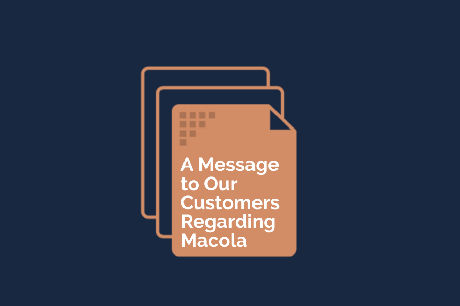 Algorithm's value proposition to Macola users