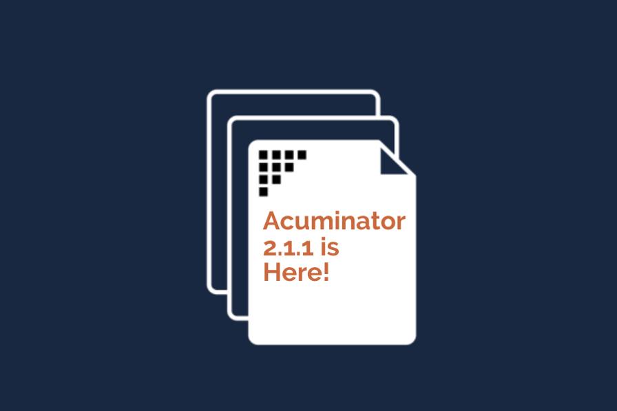 The Acuminator, version 2.1.1 is here!