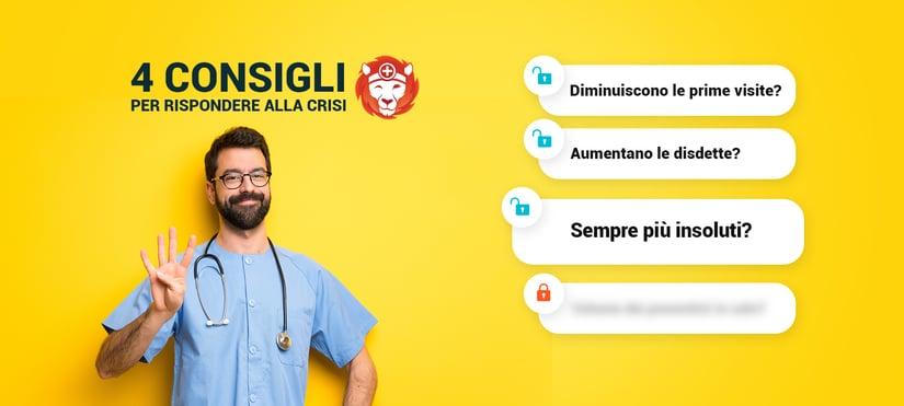 Il terzo di 4 consigli utili per lo studio medico e odontoiatrico per rispondere alla crisi: monitora e gestisci l'insoluto.
