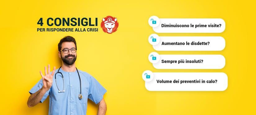 L'ultimo dei 4 consigli utili per lo studio medico e odontoiatrico per rispondere alla crisi: monitora e gestisci il volume dei preventivi.