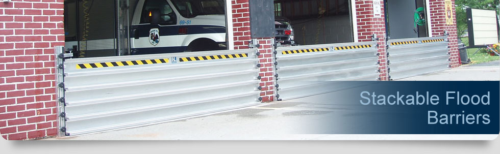 Stackable Flood Barrier Stop Logs