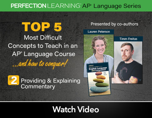 #APLangTop5 Session 4: Providing & Explaining Commentary