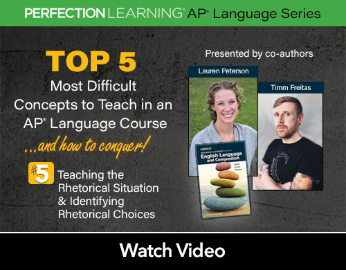 #APLangTop5 Session 1: Teaching the Rhetorical Situation