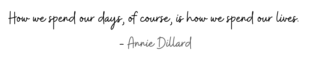 Annie Dillard Quote 1000 by 200