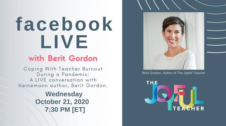 Berit Gordon FB LIVE Coping with Burnout