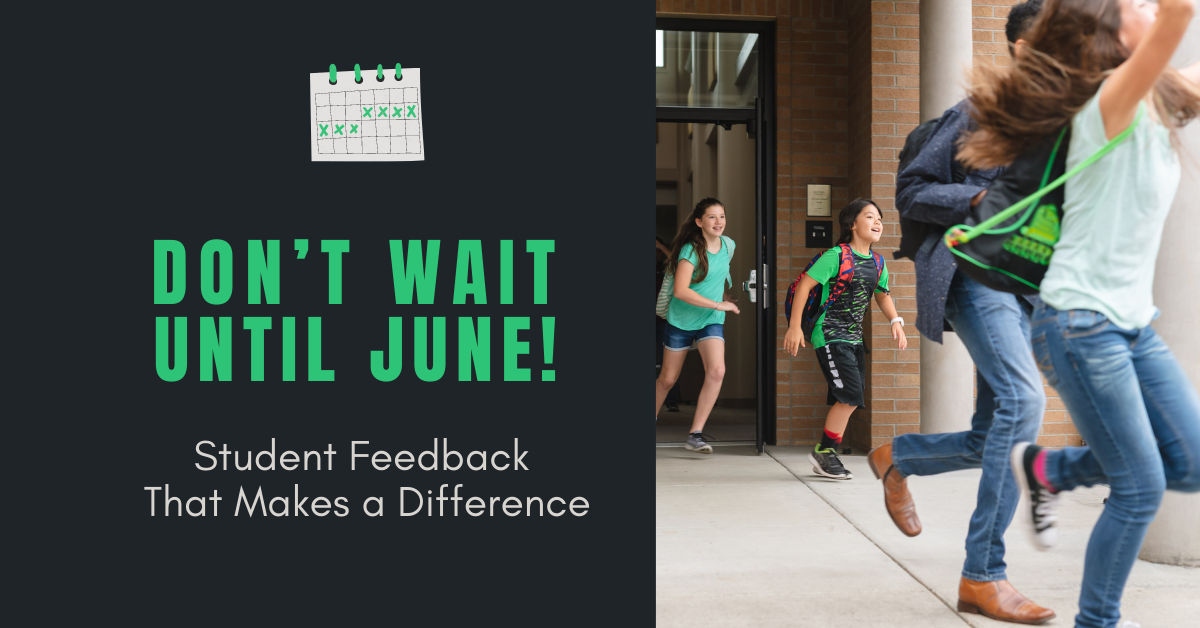 Don't Wait Until June! Student Feedback That Makes a Difference