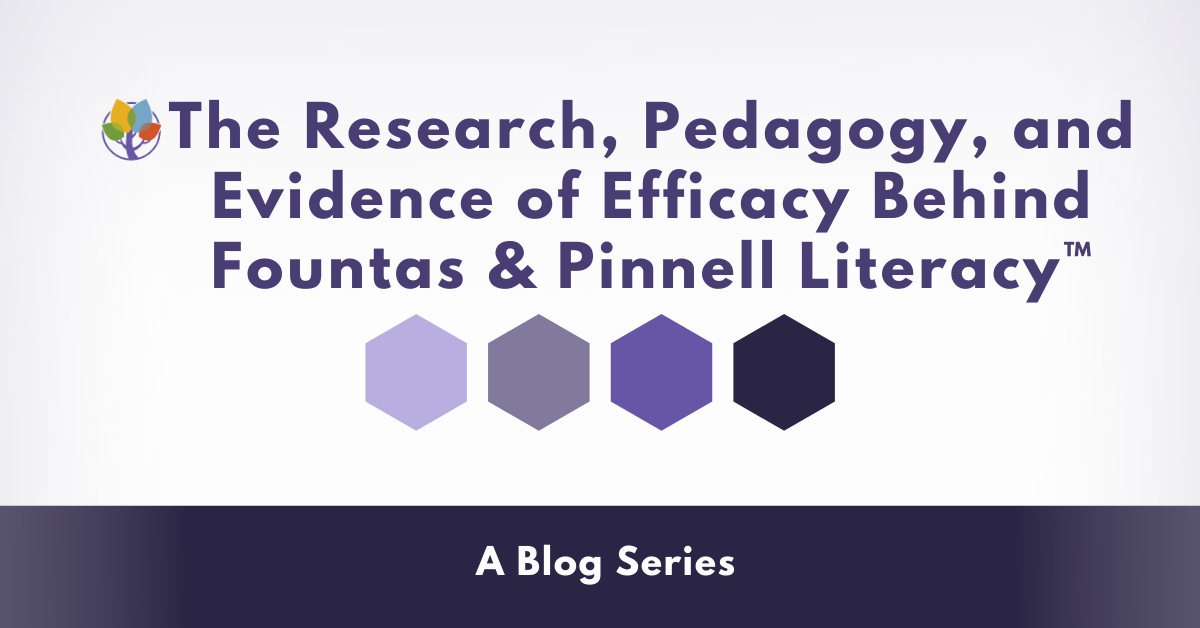 Fountas and Pinnell Blog SERIES FINALE