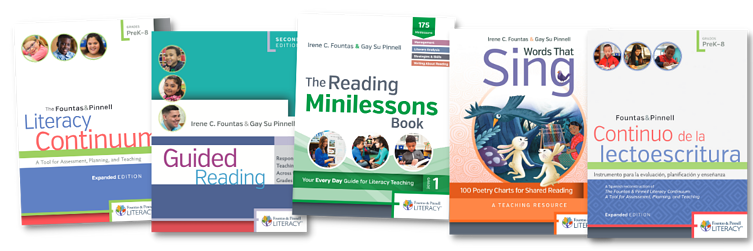 Fountas and Pinnell Book Covers for TAW21 Blog