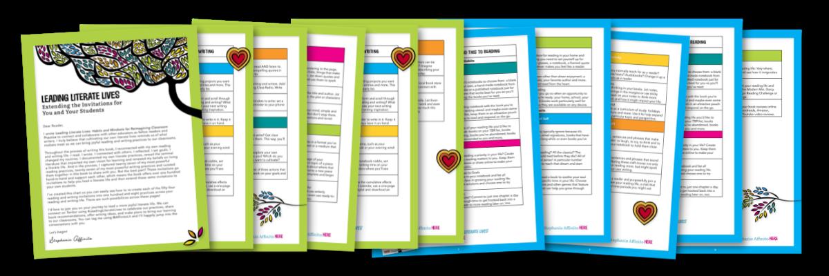 Leading Literate Lives Invitation Graphic for Blog jam