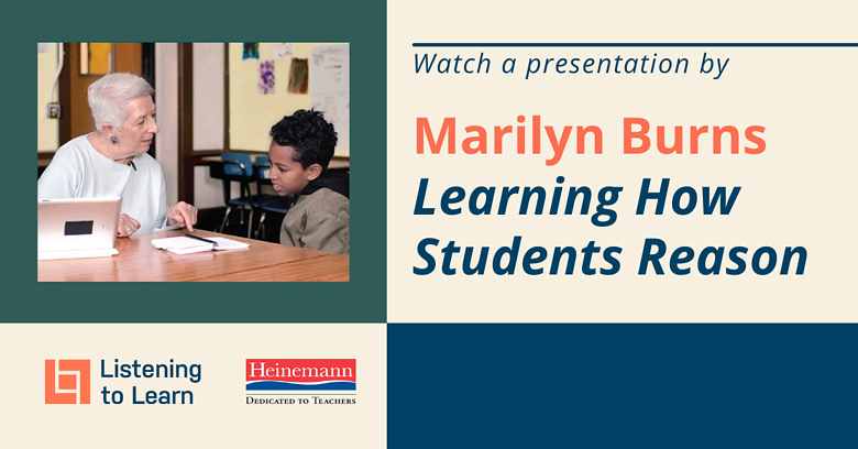 Marilyn Burns Presents a Closer Look at Listening to LearnCTR