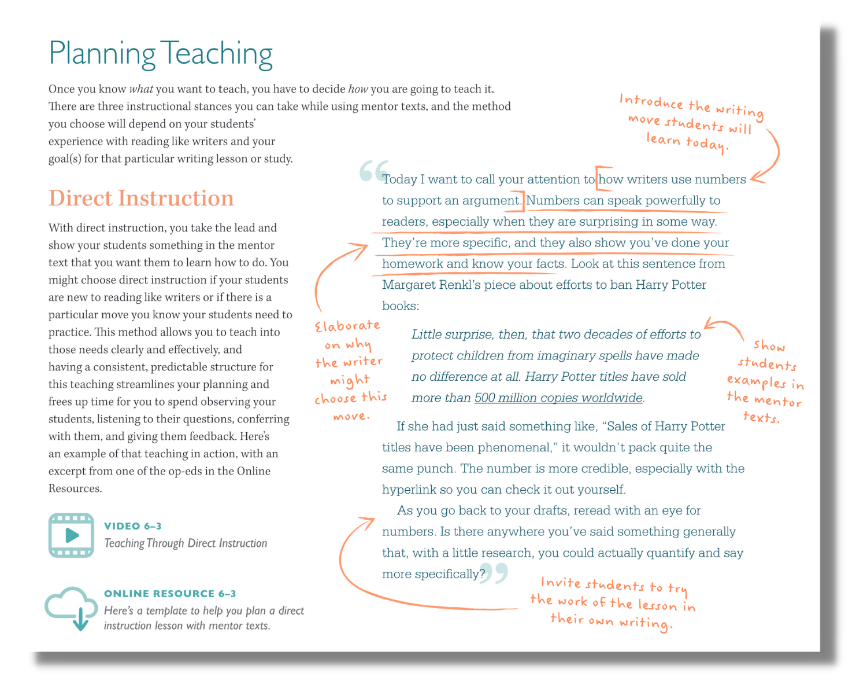 Heinemann Mentor Text Book Grades 6-12