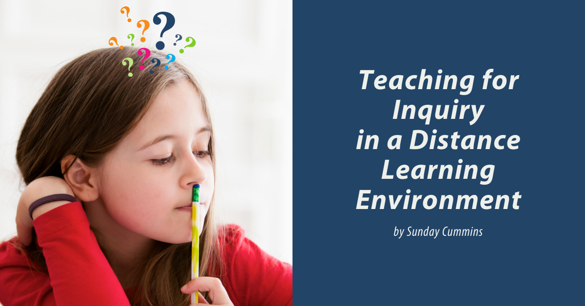 Teaching for Inquiry Distance Blog Header Cumminsx