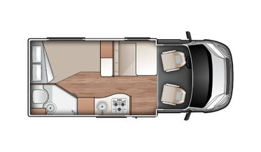Compact for 2 rent motorhome new zealand
