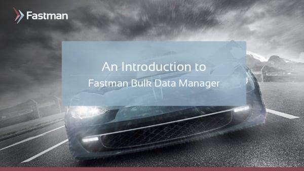 Bulk Data Manager Presentation