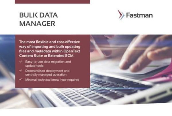 Bulk Data Manager Data Sheet