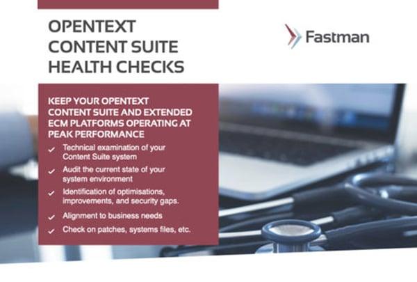 OpenText Content Suite Health Checks Data Sheet