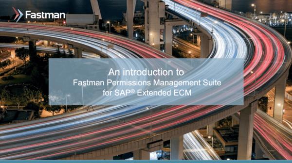 Permission Management Suite for SAP® Extended ECM Presentation