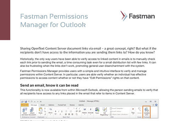 Permissions Manager for Outlook Data Sheet