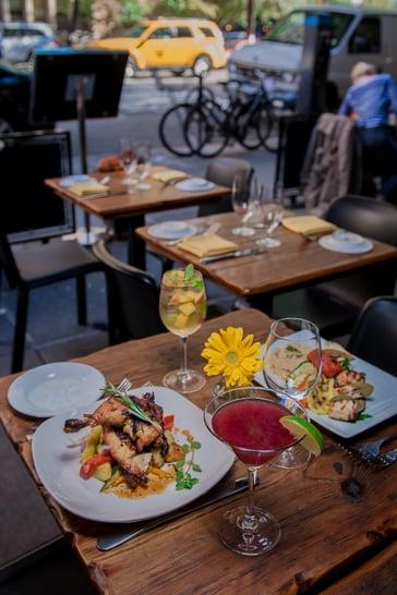 Outsite dinner at Bodrum Turkish restaurant
