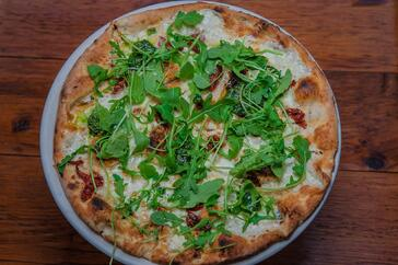 Gourmet pizza at Bodrum NYC
