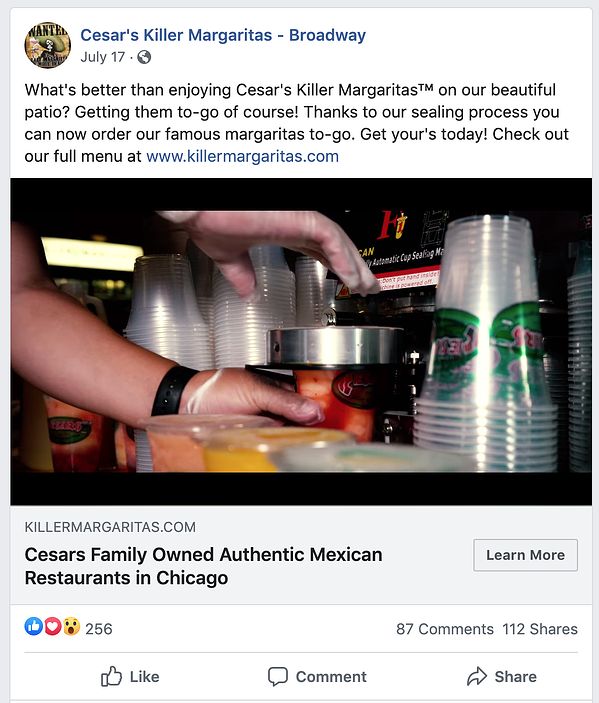 facebook paid ads for restaurants