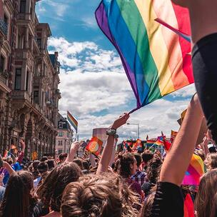 celebrate pride month in the UK - photo by margaux bellott via unsplash