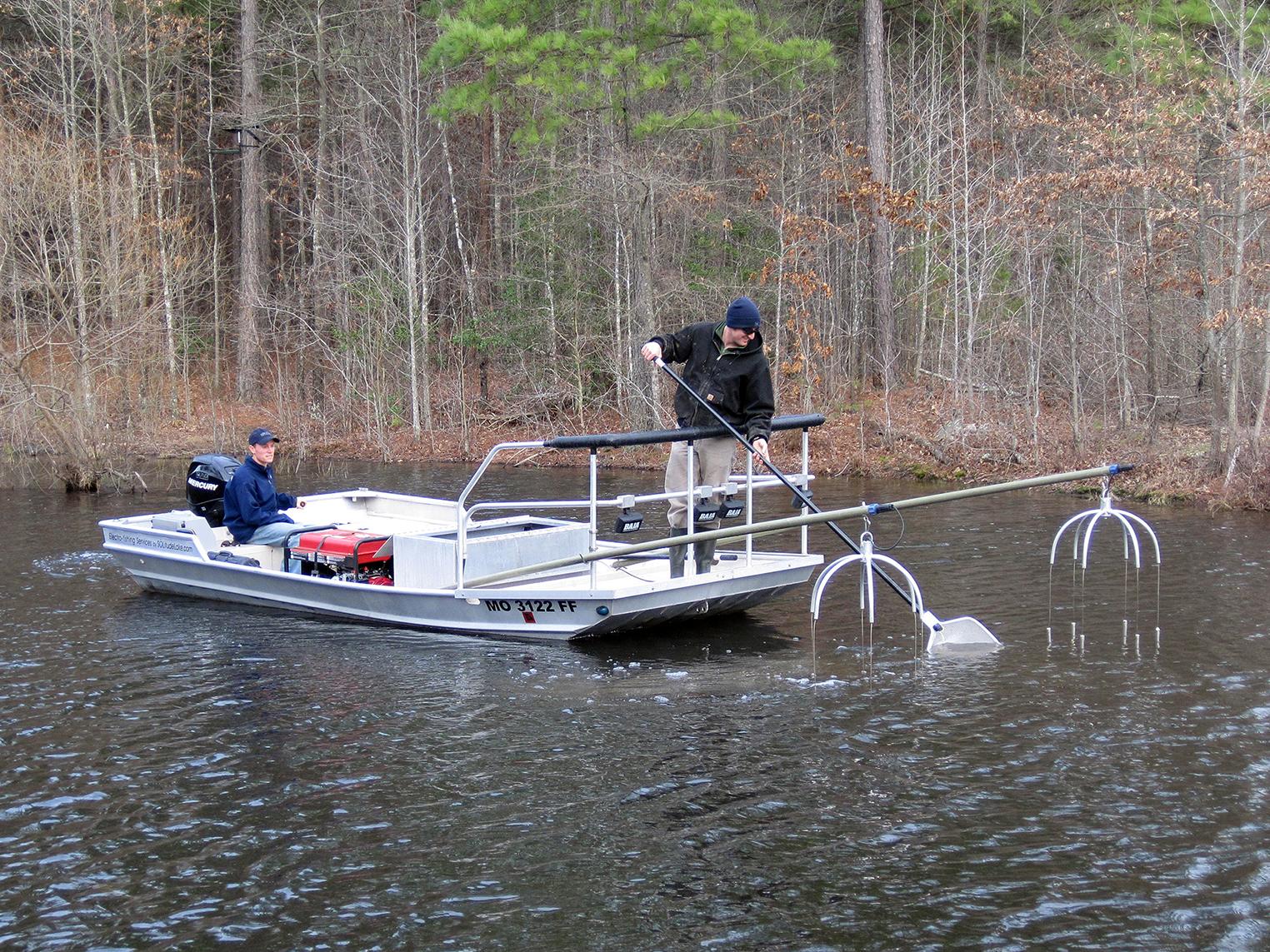 electrofishing boat