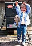 girl with sweeney fish feeder