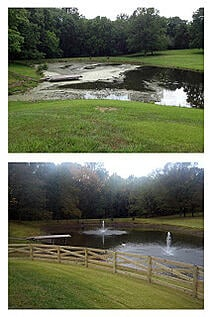 VA Pond treated by SOLitude Lake Management with SePro Sonar Genesis