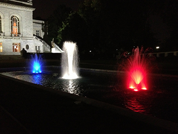 Fountain Lighting Colored