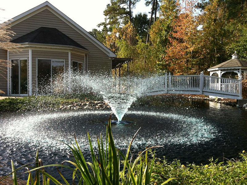 fountain stormwater pond