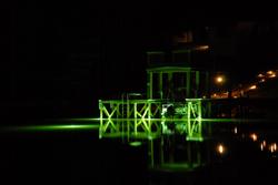 Green fishing lights