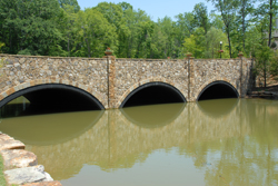 Fishing bridge during the day
