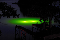 ... Light up the water with green monster fishing lights ... & Pond Lights: Green Monster Underwater Fishing Lights For Docks u0026 Piers