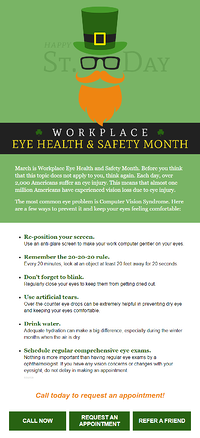 Workplace Eye Health & Safety Month