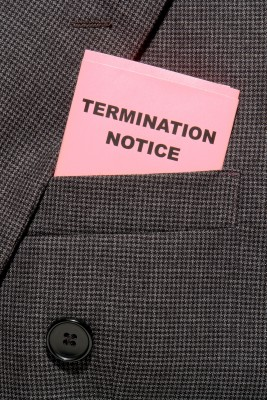 picture of termination notice