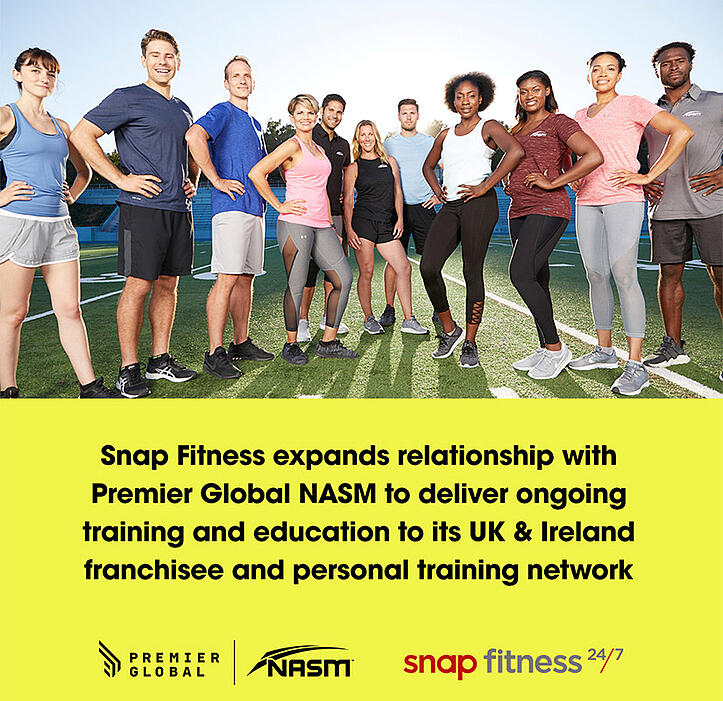 Snap Fitness Expands Relationship with Premier Global NASM To Deliver Ongoing Education and Training