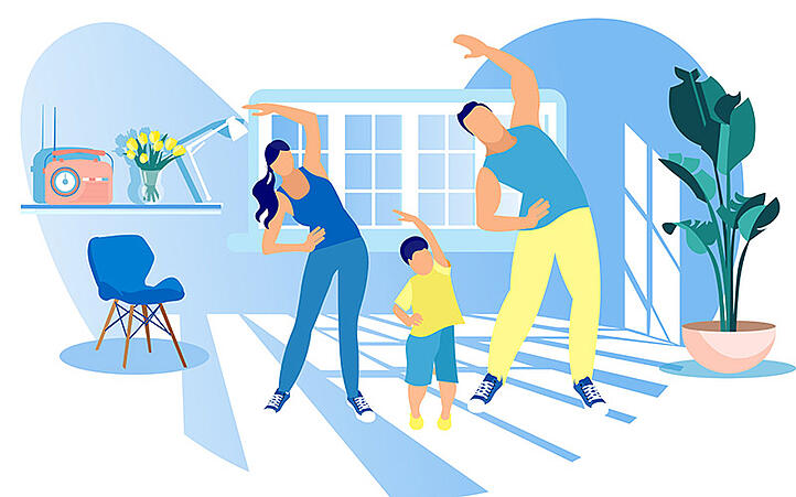 Family Exercises: 5 Easy Tips to Keep a Family Well