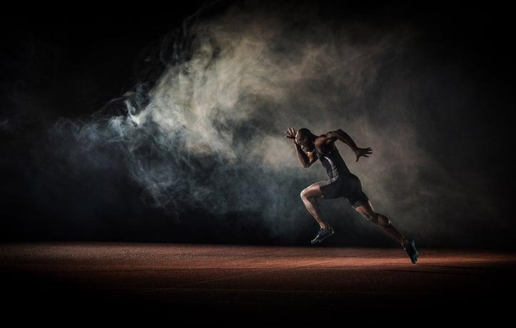 一个运动员短跑