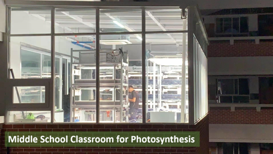Middle School Classroom for Photosynthesis - Software Controlled
