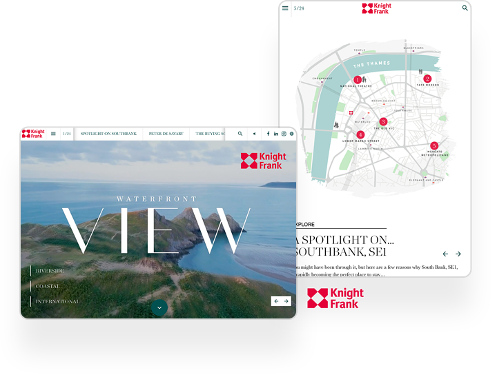 Knight Frank Interactive Real Estate Brochure Example
