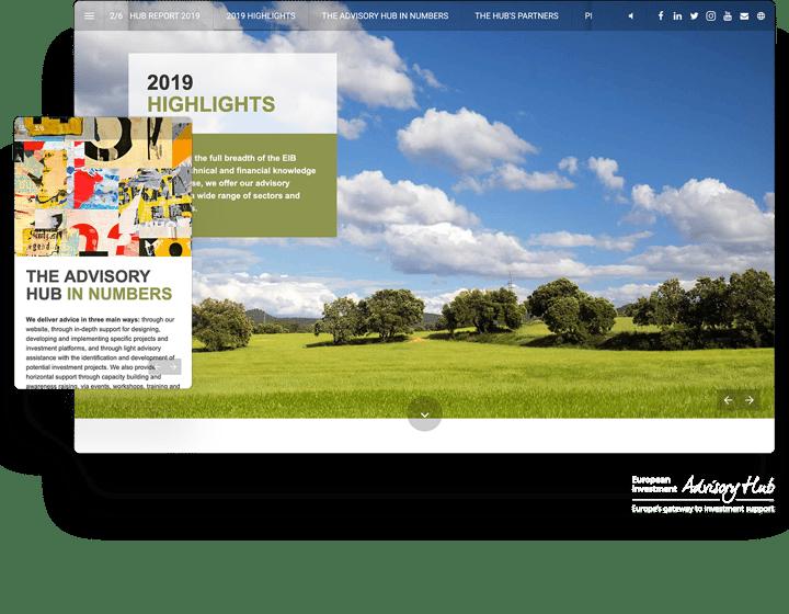 Interactive Financial Report Example