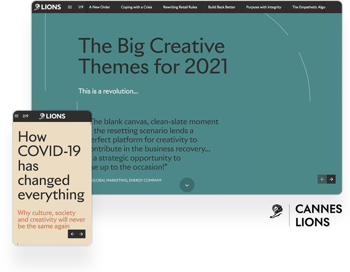 interactive report example cannes lions